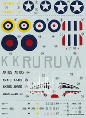 AMLD 72 034 AML 1/72 Декаль и набор дополнений 5   decal versions: 4-RAF WWII + 1 USAF WWII