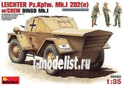 35082 MiniArt 1/35 Leichter Pz.kpfw. 202(e) With Crew (DINGO Mk.I)