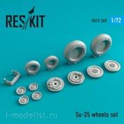 RS72-0269 RESKIT 1/72 Смоляные колёса для Su-35