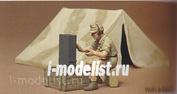 35074 Tamiya 1/35 Нем.радист с палаткой (африканский корпус)