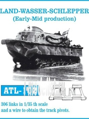 Atl-35-102 Friulmodel 1/35 Траки железные для Land - Wasser - Schlepper (Early Mid production)