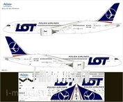 788-003 Ascensio 1/144 Декаль на самолет боенг 787-8 Dremliner (LOT - Polih Arlines)