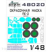 48020 SX-Art 1/48 Окрасочная маска Пе-2 (Звезда)