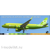 3510-1 Pacific88 Paint Kit for Airbus A320NEO S7 AIRLINES