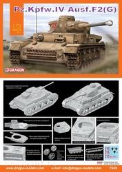 7549 Dragon 1/72 Танк Pz.Kplw.lV Ausf.F2