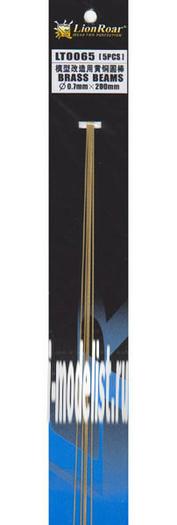 LT0065 Lion Roar Пруток металлический, диаметр 0,7 мм. Длина 200 мм. В комплекте 5 штук.