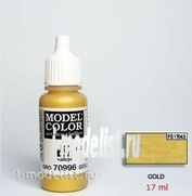 70996 Vallejo acrylic Paint `Model Color` Gold / Metallic Gold