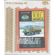 WMC-18-1 W.M.C. Models 1/25 Дополнительный набор шин для модели Г@3-66 (лазерная резка)