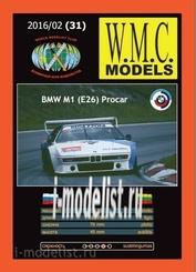 WMC-31 W. M. C. Models 1/25 BMW M1 Procar