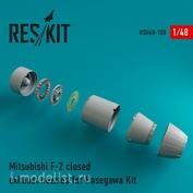 RSU48-0100 RESKIT 1/48 Реактивные сопла для Mitsubishi F-2 закрытые
