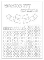 14361 KV Models 1/144 Набор окрасочных масок для Boeing 777-300ER
