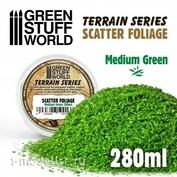 10513 Green Stuff World Листва цвет средний зеленый - 280 мл / Scatter Foliage - Medium Green - 280 ml