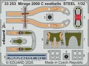33253 Eduard 1/32 Фототралвение для Mirage 2000 C стальные ремни
