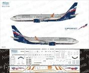 738-015 Ascensio 1/144 Декаль на самолет боенг 737-800 (Аэрофлот Российские Авиалинии)