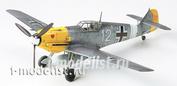 60755 Tamiya 1/72 Немецкий самолет Второй Мировой войны Messerschmitt Bf-109 E-4/7