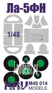 M48 014 KAV Models 1/48 Окрасочная маска на остекление Лa-5ФН (Звезда)