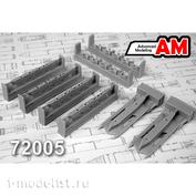 AMC72005 Advanced Modeling 1/72 Двухпостовый балочный держатель с держателями БД3-УСК