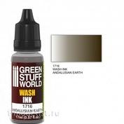1716 Green Stuff World Flush color ANDALUSIAN EARTH 17 ml