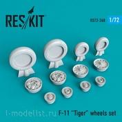 RS72-0268 RESKIT 1/72 Смоляные колёса для F-11 Tiger