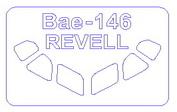 14424 KV Models 1/144 Набор окрасочных масок для остекления модели BAe-146/ RJ85