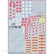72077 Begemot 1/72 Декали для Лавочкин Ла-9(11)