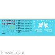 752-004 PasDecals 1/144 Декаль Nordwind Airlines для Boeing 757-200