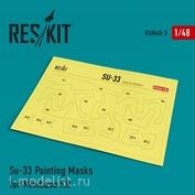 RSM48-0003 Reskit 1/48 Окрасочная маска для Сухххой-33