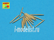 350 L-33 Aber 1/350 Set of 16 pcs 102 mm type Bl Mk.IX barrels for Royal Navy