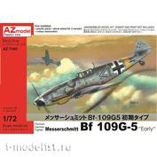 AZ7445 AZ Model 1/72 Самолет Messerschmitt Bf 109G-5