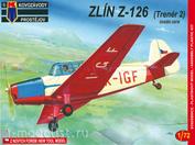 KPM0020 Kovozavody Prostejov 1/72 Zlin Z-126 (Trenér 2) úvodní série