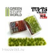 1350 Green Stuff World Кочки травы 12 мм зеленые / Grass TUFTS XL - 12mm self-adhesive - REALISTIC GREEN