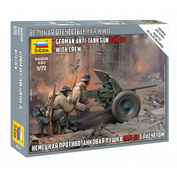 6114 Zvezda 1/72 Calculation of the German gun Pak-36 (for the game