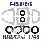 M48 037 KAV models 1/48 Окрасочная маска на F-15 A/C/E (Italeri)