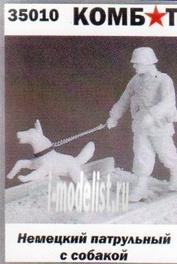35010 Комбат 1/35 Немецкий патрульный с собакой