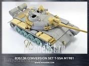 35136 Miniarm 1/35 Конверсионный набор Т-55А м1981г., включает фототравления и точенный ствол