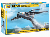 7029 Zvezda 1/144 Russian transport and landing aircraft Il-76 TD EMERCOM of Russia.