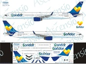 753-001 Ascensio 1/144 Декаль на самолет боенг 757-300 (Conidor (Yellow heart))