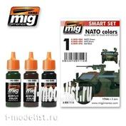 AMIG7114 Ammo Mig Набор акриловых красок NATO COLOR SET (Камуфляж техники НАТО)