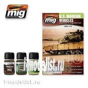 AMIG7410 Ammo Mig tinting Kit US MODERN VEHICLES SET (Modern American technology)