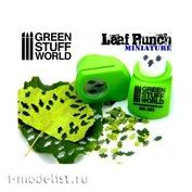 1312 Green Stuff World Инструмент для создания листьев дуба, светло-зелёный / Miniature Leaf Punch LIGHT GREEN