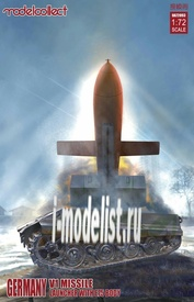 UA72093 Modelcollect 1/72 German V1 Missile Launcher w/E75 Body