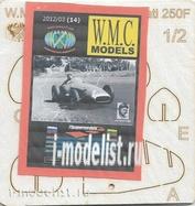 WMC-14-1 W. M. C. Models 1/25 Additional kit for Maserati 250F (laser cutting)