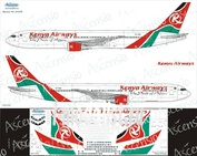 763-014 Ascensio 1/144 Scales the Decal on the plane Boeng 767-300 (Kenya Airways)