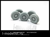 35125 Miniarm 1/35 Набор колес к автомобилю (СпН) Тигр-М  (с просадкой) 4шт + запаска