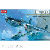 12282 Academy 1/48 Aircraft P-38E/J/L