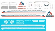 737800-29 PasDecals Decal 1/144 Scales at Boeng 737-800 American Arlines old