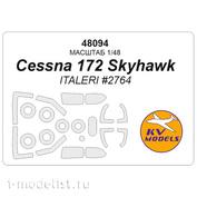 48094 KV Models 1/48 Cessna 172 Skyhawk + маски на диски и колеса