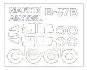14395 KV Models 1/144 Набор окрасочных масок для Martin B-57B/C + маски на диски и колеса