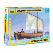 Zvezda 9033 1/72 Medieval lifeboat