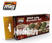 AMIG7118 Ammo Mig paint Set WARGAME 1945 LATE GERMAN SET (1945, late German colors)